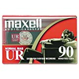Maxell 108510 Dictation & Audio Cassette, Normal Bias, 90 Minutes (45 x 2)