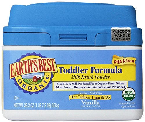 Earth's Best Organic Toddler Formula, with DHA & Iron, Vitamins & Minerals, 23.2 Ounce