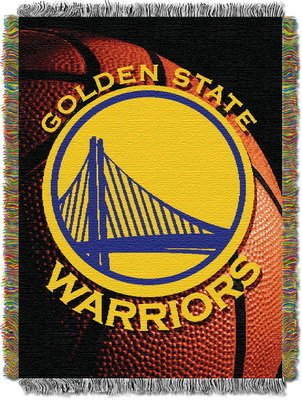 The Northwest Company Officially Licensed NBA Golden State Warriors Photo Real Woven Tapestry Throw Blanket, 48