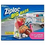 Ziploc Big Bag X, L Double Zipper, 4 ct