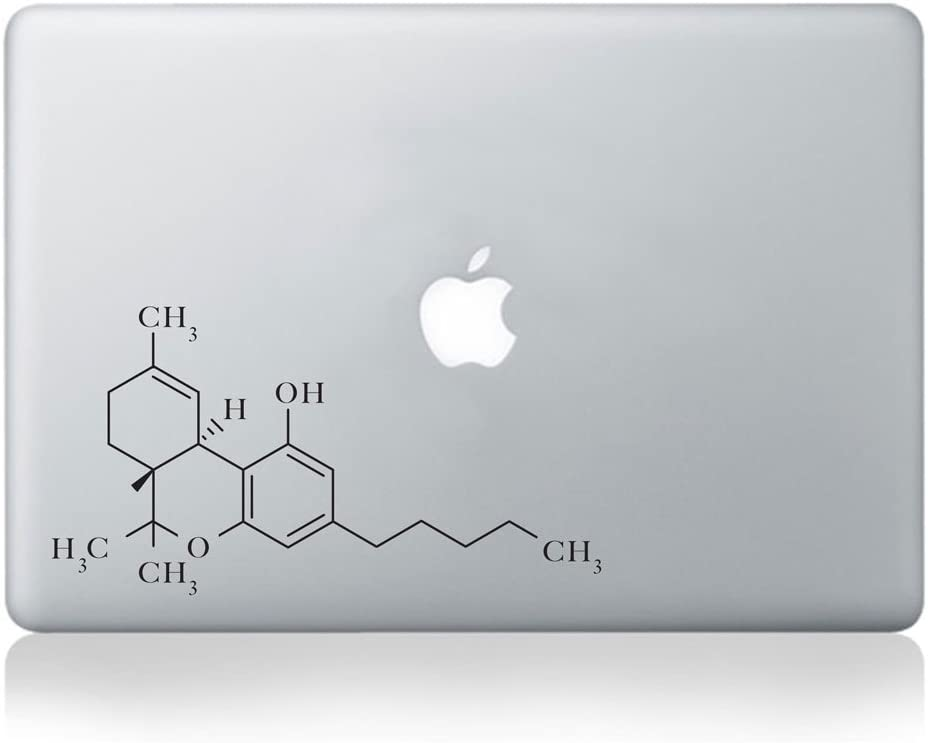 Molecular Structure of THC Vinyl MacBook Decal/Laptop Decal - Fits MacBook Air (11/13), MacBook Pro (13/15), MacBook Pro Retina (13/15) and MacBook Retina (12)