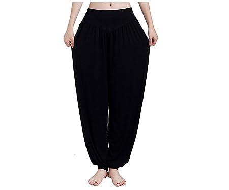 Yopin Pantalones de Yoga para Mujer, Pantalones de Yoga, Pantalones de Yoga, Pantalones Largos, Negro, XX-Large