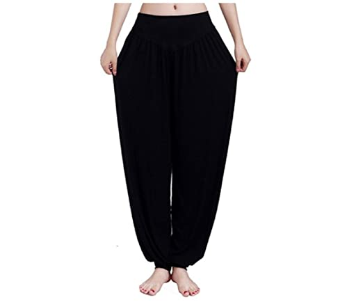 Yopin Pantalones de Yoga para Mujer, Pantalones de Yoga, Pantalones de Yoga, Pantalones Largos, Negro, X-Large