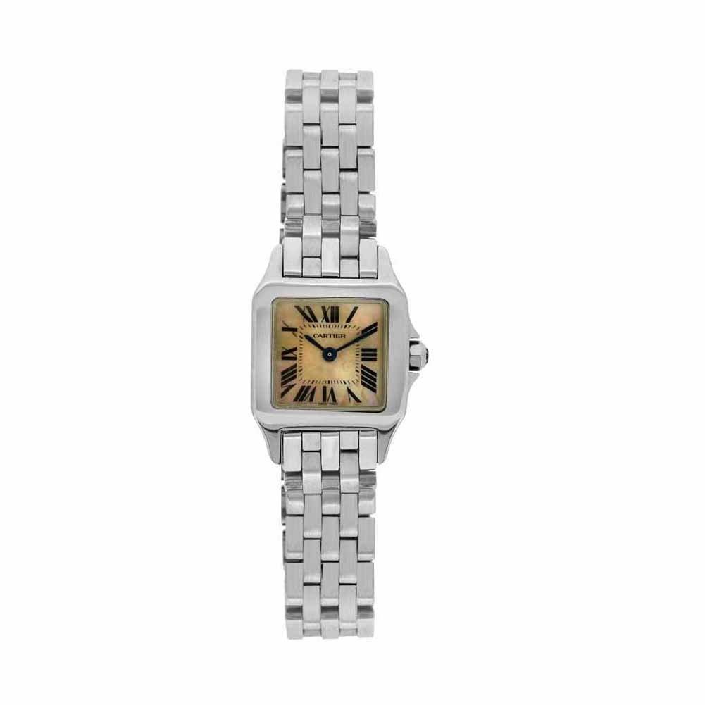 Cartier Santos Demoiselle quartz womens Watch W25075Z5 (Certified Pre-owned)