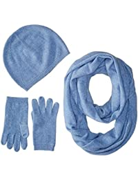 Women's Gift Box Set-Hat, Smartphone Gloves, and Infinity Scarf