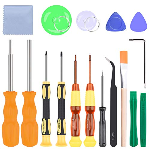 Triwing Screwdriver for Nintendo, 17pcs Professional Screwdriver Repair Tool Kits, 3.8mm&4.5mm Full Security Screwdriver for Nintendo Switch, New 3DS and Nintendo Wii/NES/SNES/DS Lite/GBA