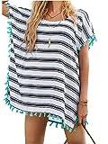 Wander Agio Womens Cover up Bohemia Swimsuit Beach Bikini Coverups Stripe