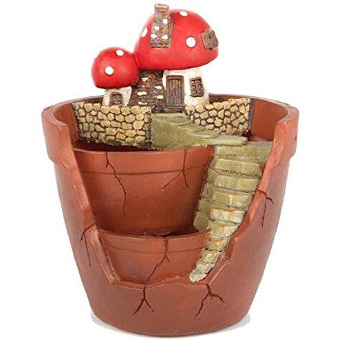 Youfui Garden Pastoral Flowerpot Combination Resin Succulent Plant Pot (Mushroom)