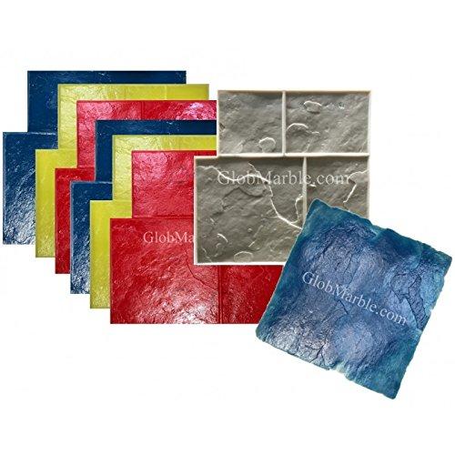 8 Piece Ashlar Slate Stone Stamp Set GlobMarble SM 3003