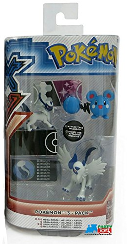 Pokémon 3 Pack Figures, Mega Absol, Azurill, Absol