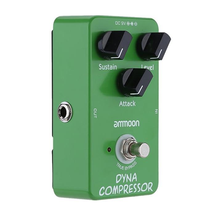 ammoon AP-05 Dinámica Compresor de Guitarra Efectos Pedal True Bypass: Amazon.es: Electrónica