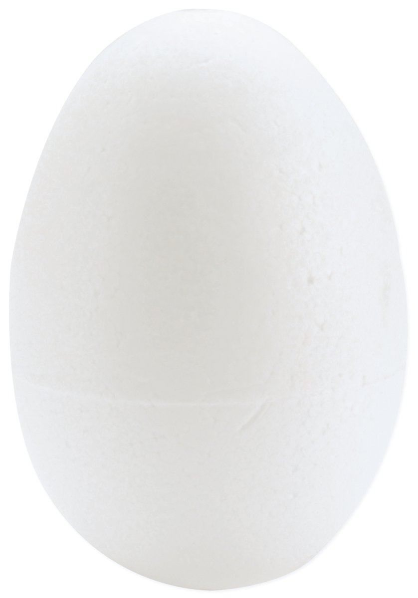 Smoothfoam 6-Pack Egg Crafts Foam for Modeling, 2.5-Inch, White Notions - In Network RT212-6