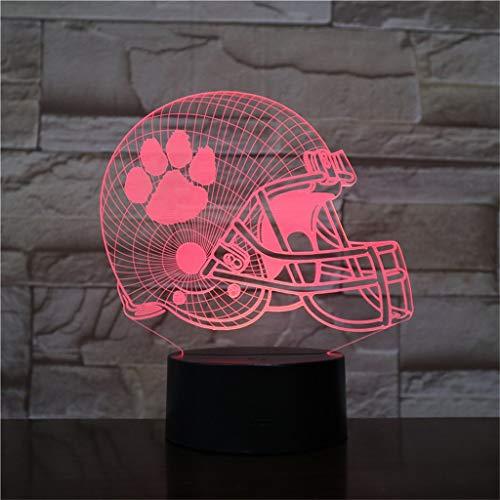 - Clemson Tigers 3D Night Light/Led Energy Saving Lamp, 7 Color Change Decorative Lights - Black Base, The for Children