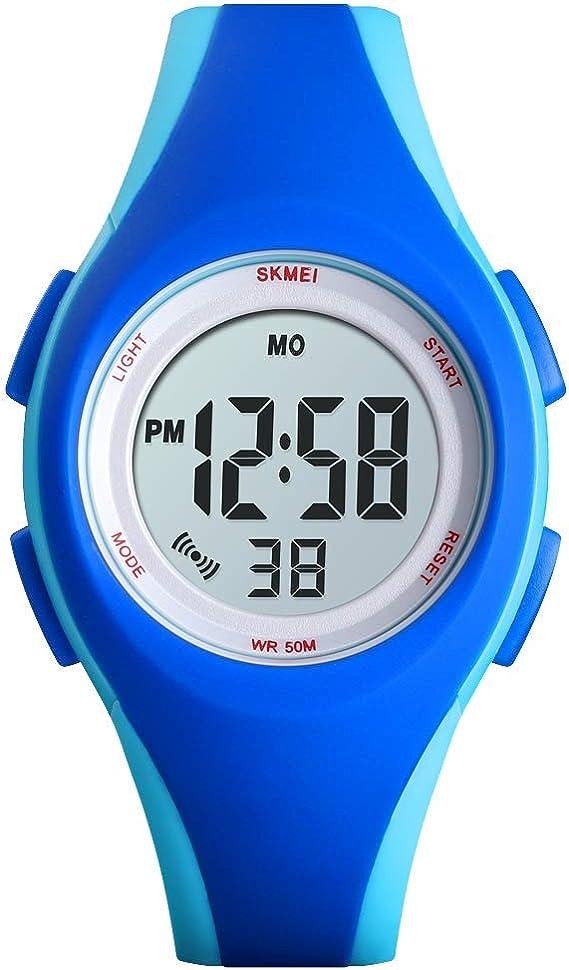 Skmei - Reloj Digital Deportivo para niños con Alarma, LED, Reloj ...