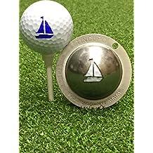 Tin Cup Golf Ball Custom Marker Alignment Tool - Sail Away