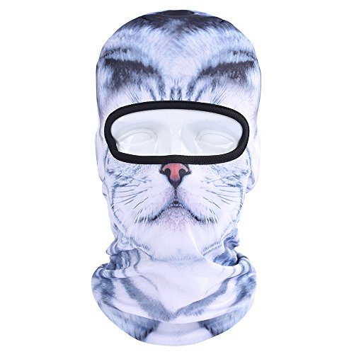 WTACTFUL Animal Balaclava Face Mask Breathable Wind Dust UV Helmet Liner Protection Skiing Snowboard Snowmobile Cycling Motorcycle Driving Riding Biking Fishing Hunting Music Festivals Halloween BNB26 -