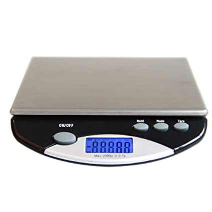 LLVV Stainless Steel Digital Kitchen Weighing Scales,Portable Precision Electronic Waterproof Cake Baking Food Medicine