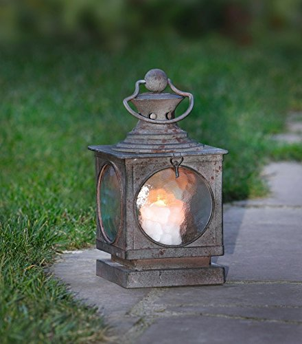 Curved Glass Lantern (Metal Square Hanging Candle Lantern, Curved Glass Insert Product SKU: CL220867)