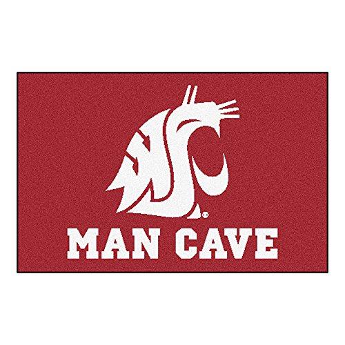 FANMATS 14716 Washington State University Nylon Universal Man Cave Starter Rug