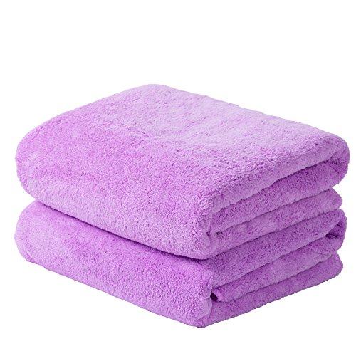 Jml Bath Towels 2 Pack, Oversized Coral Fleece Towels 30