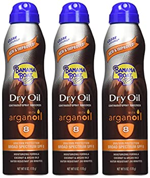 Banana Boat Sunscreen Ultra Mist Dry Oil Broad Spectrum Sun Care Sunscreen Spray - Spf 8, 6 Ounce(pack Of 3) 1