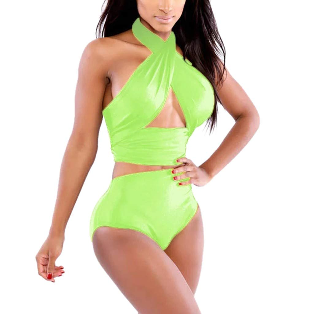 iLUGU Women'S Summer Bikini Set Fashion Sexy Swimsuit Beachwear Hollow Swimming