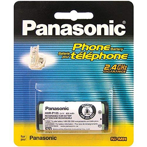 Panasonic 2.4V Ni-MH Rechargeable Battery for Cordless Telephones (HHR-P105A) ()