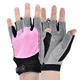KAMO Ultralight Anti-slip Breathable Gloves for Gymnastics,Kayaking,Paddling,Sailing,Weight Lifting,Training,Fitness,Bodybuilding and Outdoor Anti-slip Cycling Gloves Men & Women(Pink,L)