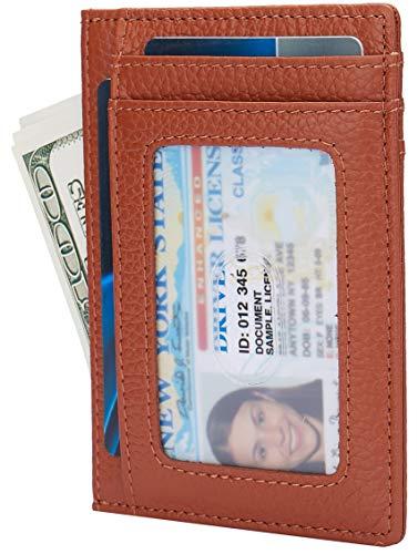 Small RFID Blocking Minimalist Credit Card Holder Pocket Wallets for Men & Women