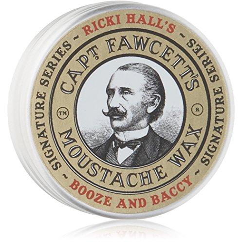 Ricki Hall's Booze & Baccy Moustache Wax by Captain Fawcett Captain Fawcetts Moustache Wax