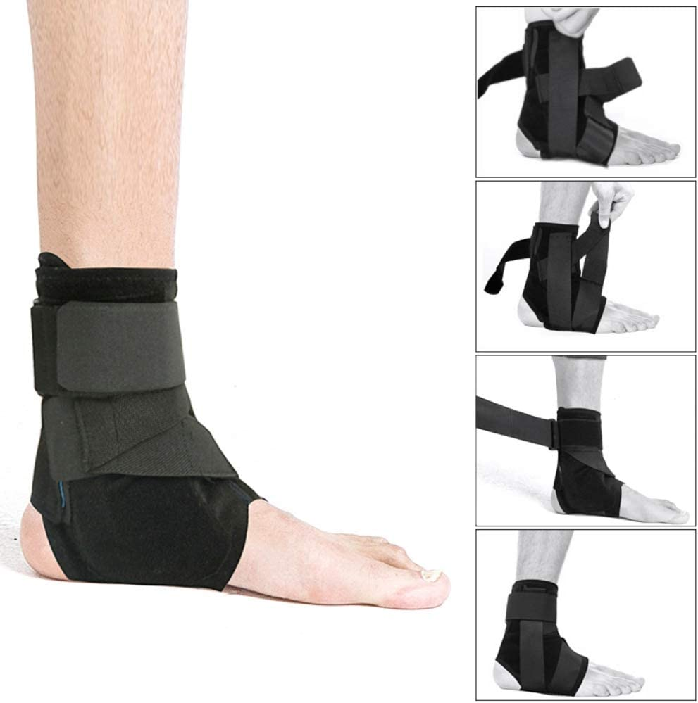 EFINNY Ankle Brace Support Sports Adjustable Ankle Straps Foot Stabilizer Orthosis Football Compression Plantar Fasciitis Foot Socks Breathable Ankle Sleeves Protector