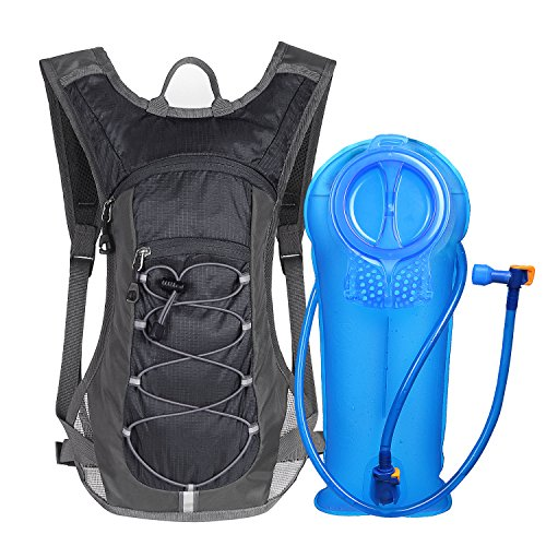 Unigear Hydration Pack Backpack with 70 oz 2L Water Bladder for Running, Hiking, Cycling, Climbing, Camping, Biking (Black)