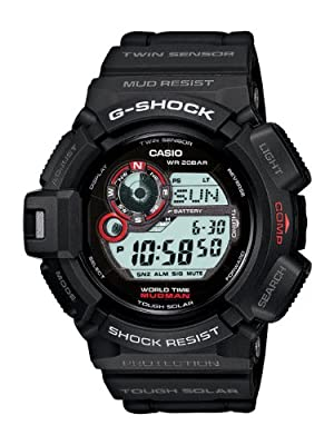 Casio Men's G9300-1 Mudman G-Shock Shock Resistant Multi-Function Sport Watch from Casio