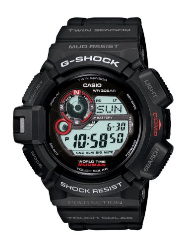 Watch Tough G-shock Solar (Casio Men's G9300-1 Mudman G-Shock Shock Resistant Multi-Function Sport Watch)