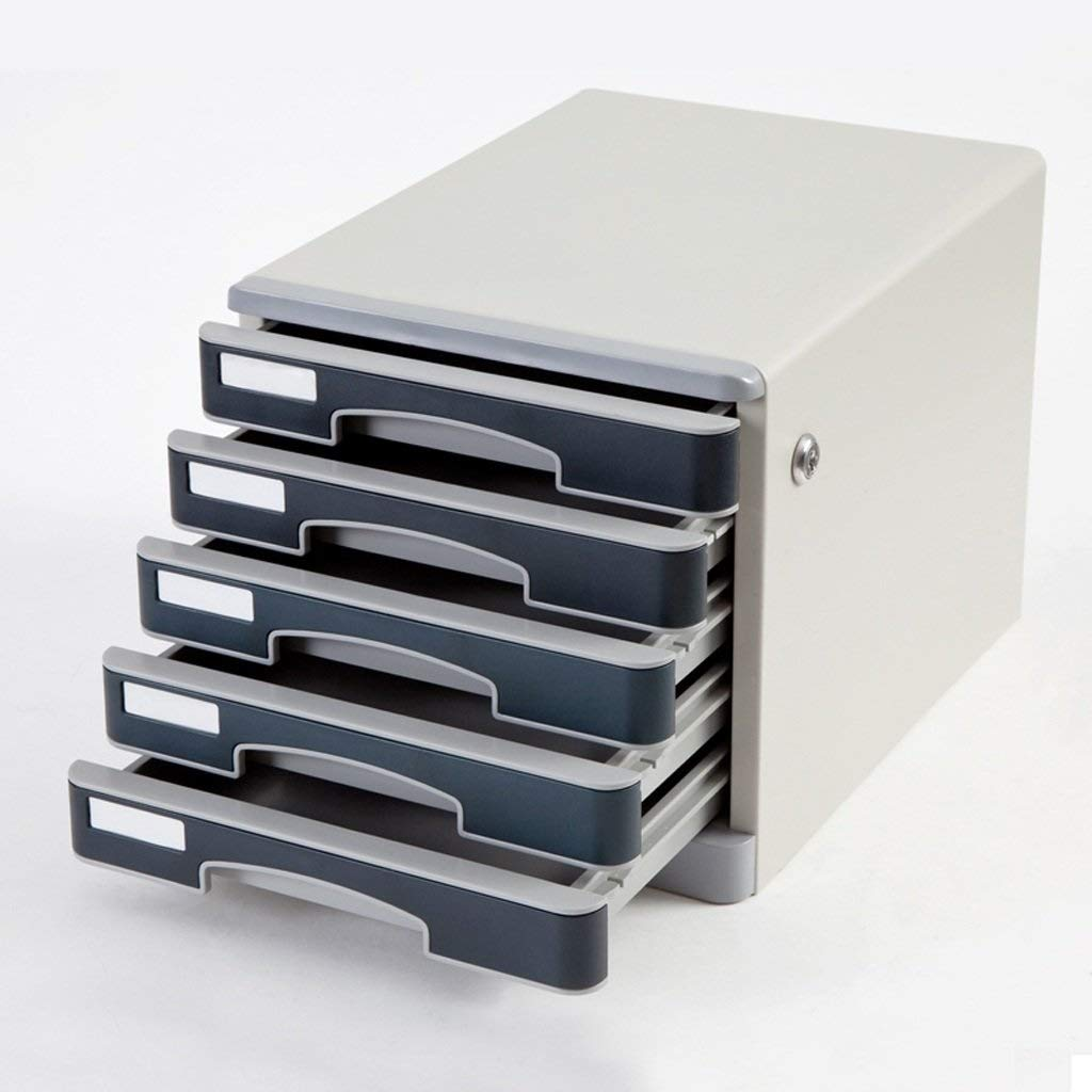 File Cabinet Stable Drawer Type Five-Layer Lock File Finishing Cabinet Flat File Cabinets