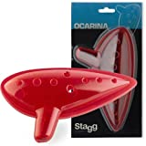 Stagg Plastic Ocarina (Red)