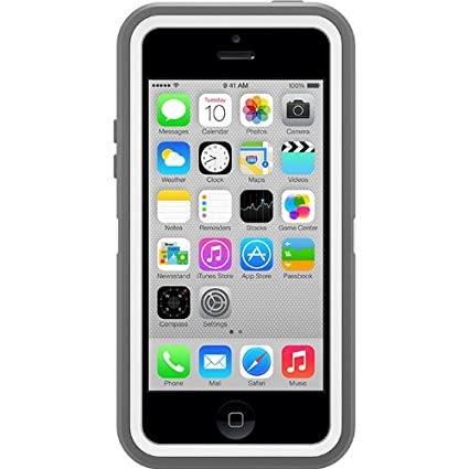 best loved 06ae2 78351 OtterBox Defender Series Case for iPhone 5c - Gray/White