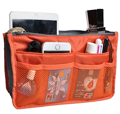 (Purse Organizer,Insert Handbag Organizer Bag in Bag (13 Pockets 15 Colors 3 Size) M)