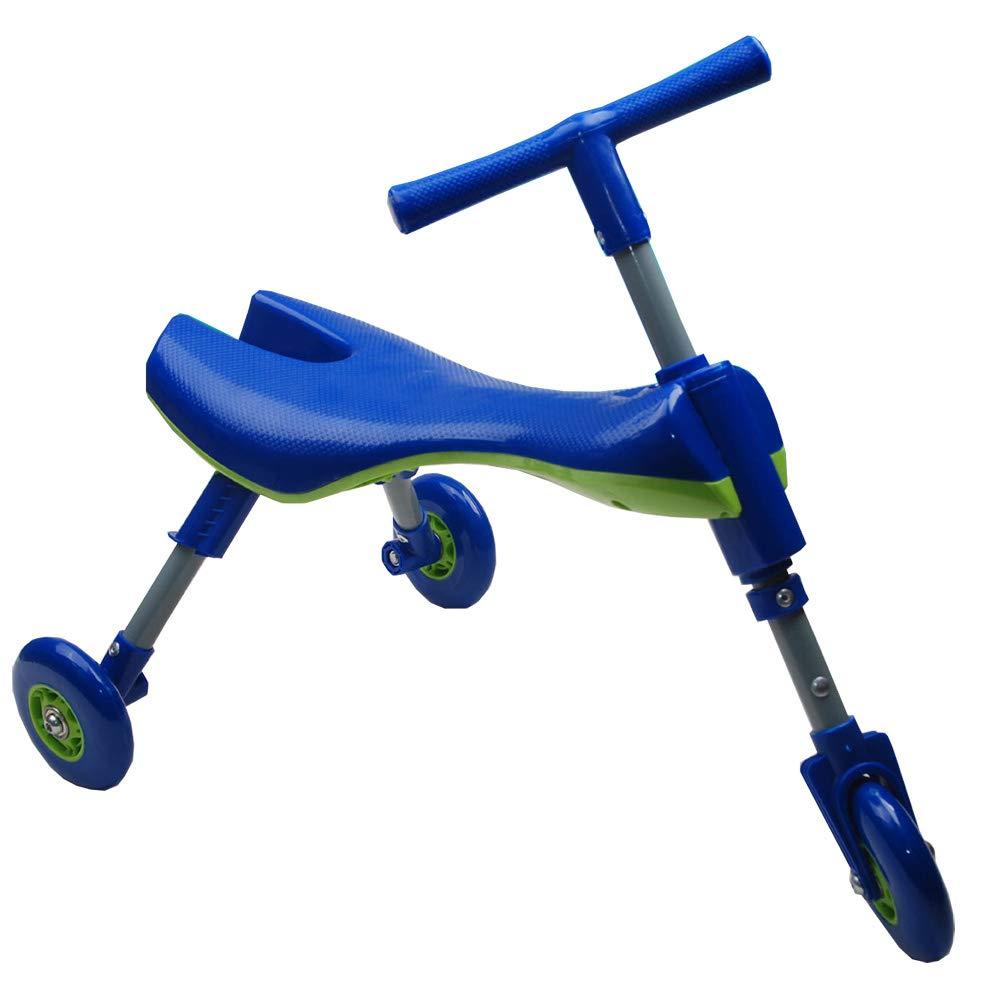 precios al por mayor azul CHB Drag Racing yo Coche Plegable bebé Walker Tres Tres Tres Ruedas Scooter Juguete Coche Equilibrio Coche Interior y al Aire Libre Puede Utilizar Coche de Juguete