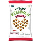 I Heart Keenwah Quinoa Puffs, Sweet Chili, 3 Ounce, Vegan, Gluten Free (6 pack)