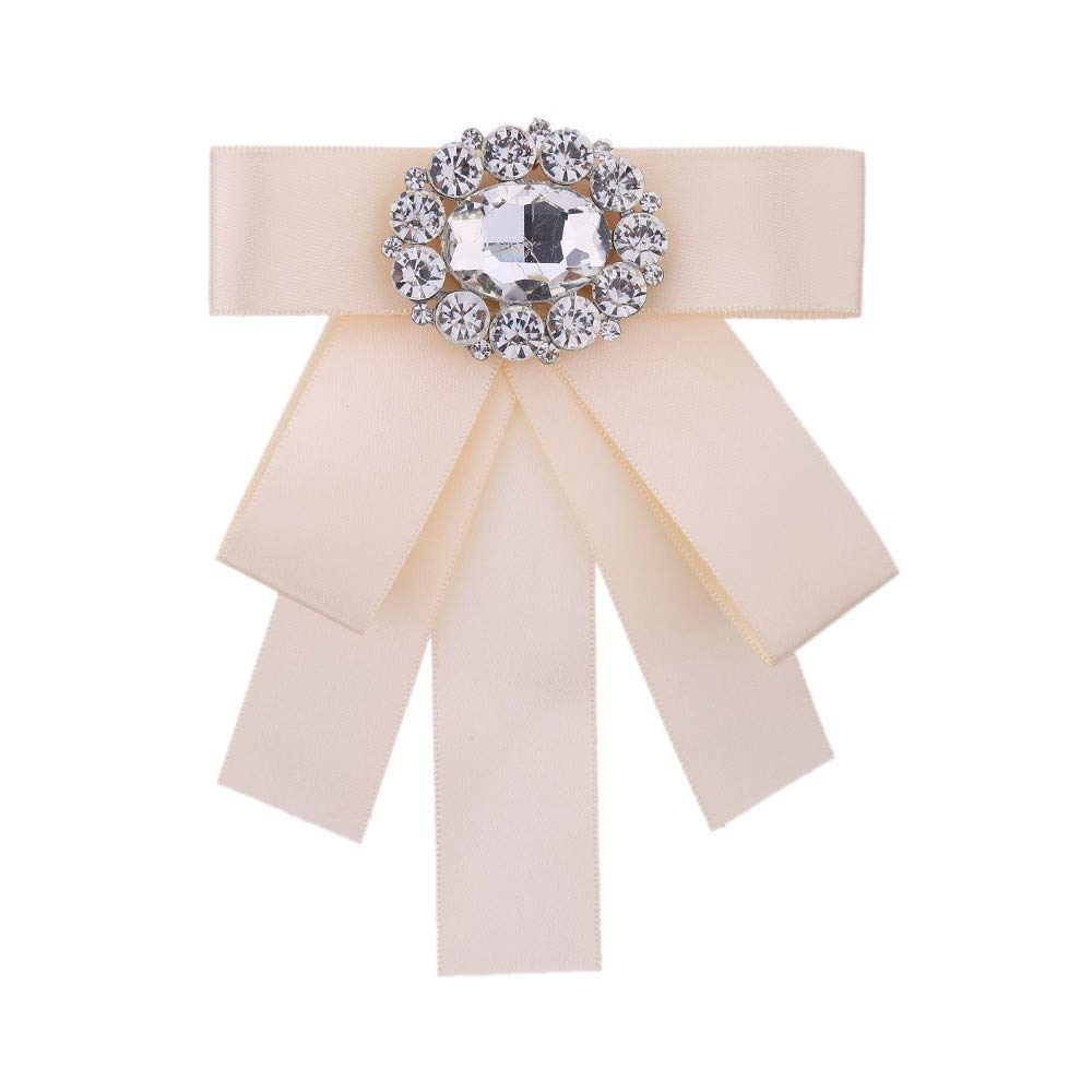 Neckchiefs Corbata de Las Mujeres de Cristal Rhinestone Bowknot ...