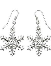 Winter Snowflake Dangle Drop Earrings Wedding Bridesmaid Christmas Gift for Women