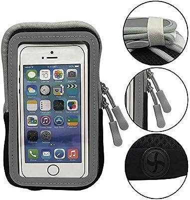 Brazalete Deportivo para iPhone 8 Plus XS MAX Compatible con Samsung Galaxy BLU, Smartphone, Entrenamiento, Correr, Gimnasio, Correa de muñeca, Bolsa con Cierre: Amazon.es: Electrónica