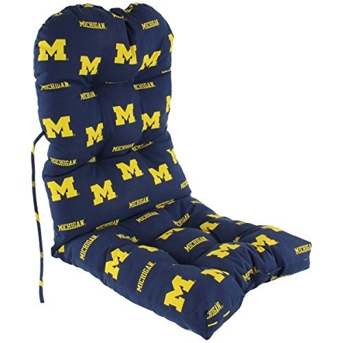 College Covers Michigan Wolverines Adirondack Chair Cushion, One Size, Team Colors ()