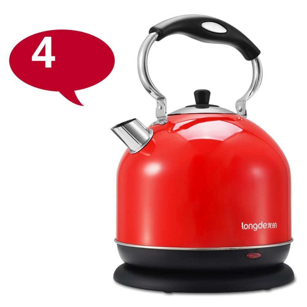 GBT  Orange Stahl Farbe Rot Wasserkocher 304 Lebensmittelqualität Edelstahl Wasserkocher Topf Automatische Abschaltung 3L 4L 2000 Watt Wasserkocher,3