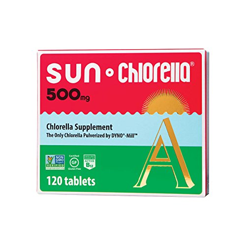 Sun Chlorella - Chlorella Superfood Nutritional Supplement- 500 Mg (120 Tablets)