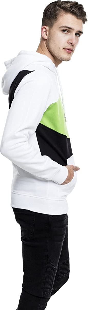 Urban Classics Zig Zag Hoody Black Green White TB205 Hoodie Sweater Herren Men