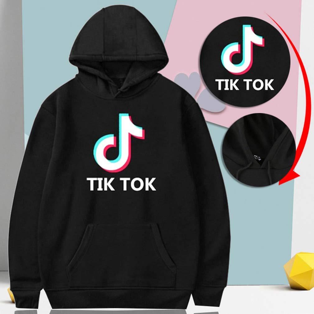 Yd-zx Unisex Fashion Hoodie Character Printing//3D //Hoodies Pullover Thin Coat Sweatshirts TIK Tok,Black,S