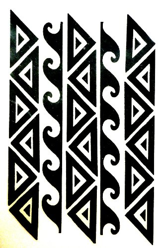 Polynesian Hawaiian Samoan Tribal Warrior Arm or Leg Band Temporary Tattoo