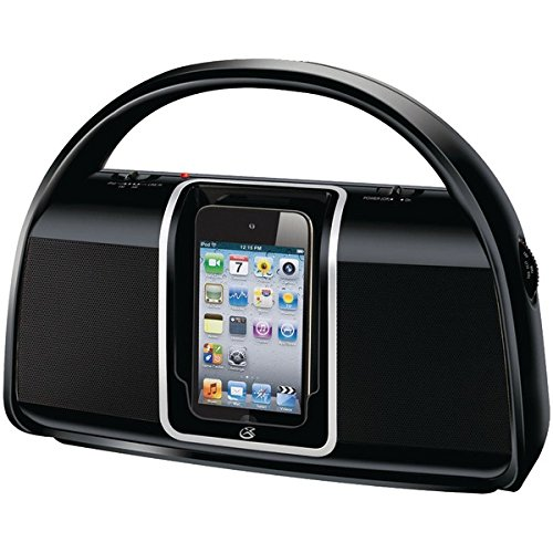 GPX Bi100B Portable Boombox AM/FM Radio with Dock for iPod (Gpx Boombox)